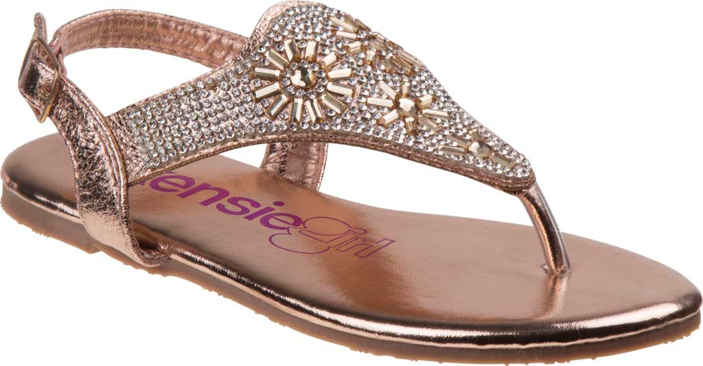 Girls' Kensie Girl KG81583M Thong Sandal, Champagne Synthetic, large, image 1