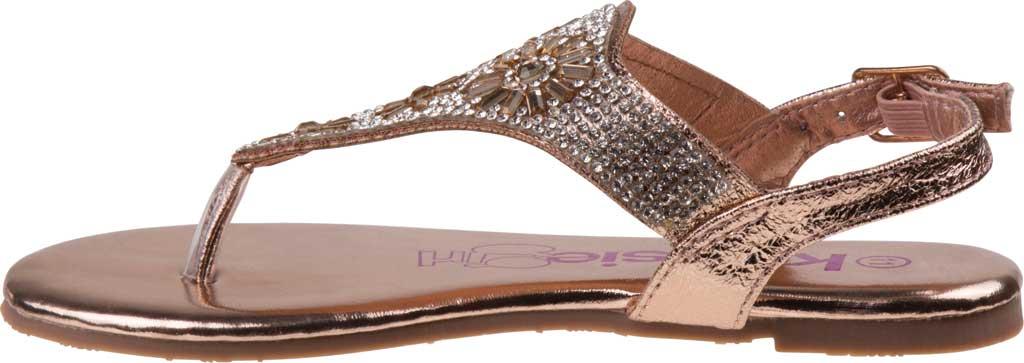Girls' Kensie Girl KG81583M Thong Sandal, Champagne Synthetic, large, image 3