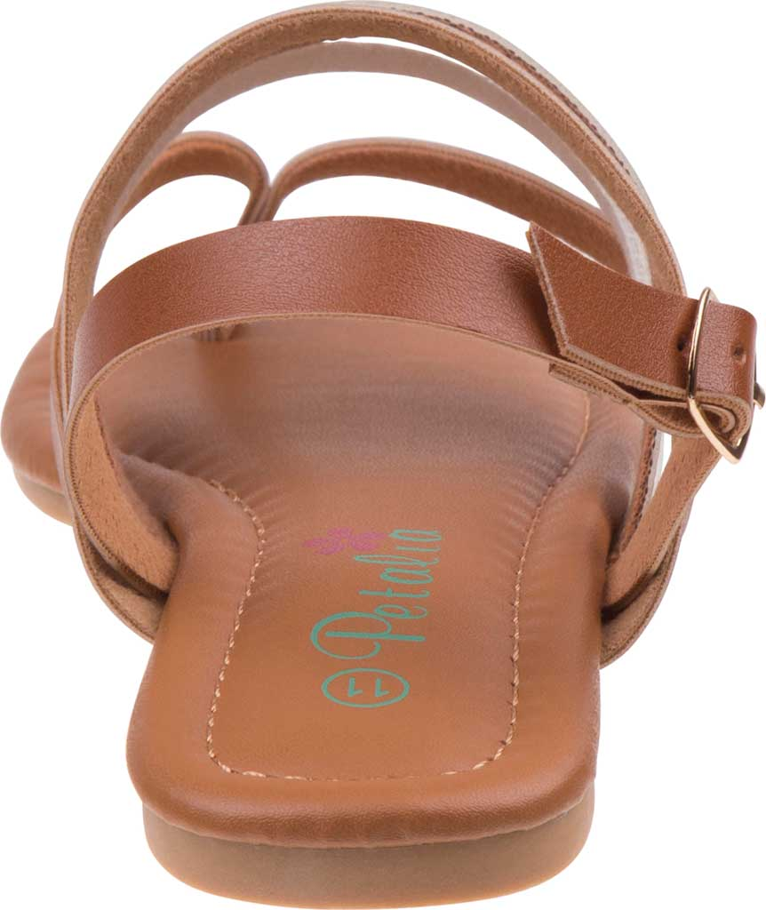 Girls' Petalia P81422S Strappy Thong Sandal, Tan Synthetic, large, image 4
