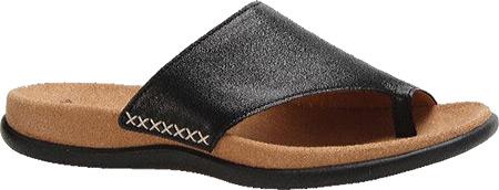 Women's Gabor 03-700 Toe Loop Sandal, Black Leather, large, image 1