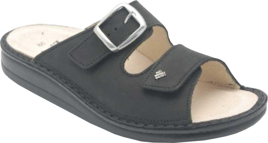 Women's Finn Comfort Harper Slide Sandal, Black Buggy Leather, large, image 1