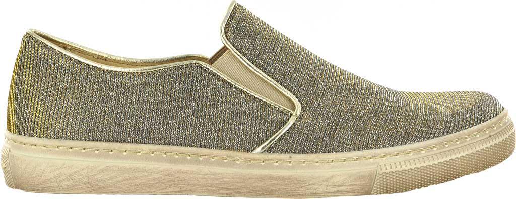 Women's Gabor 83-352 Slip-On Sneaker, Green Metallic Fabric, large, image 1