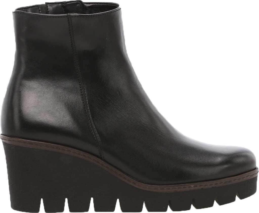Women's Gabor 34-780 Wedge Bootie, Black Patent Leather/Nubuck, large, image 1