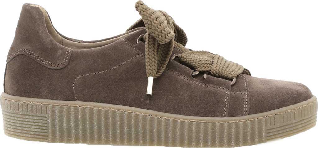 Women's Gabor 33-330 Platform Sneaker, Grey Nubuck/Patent Leather, large, image 1