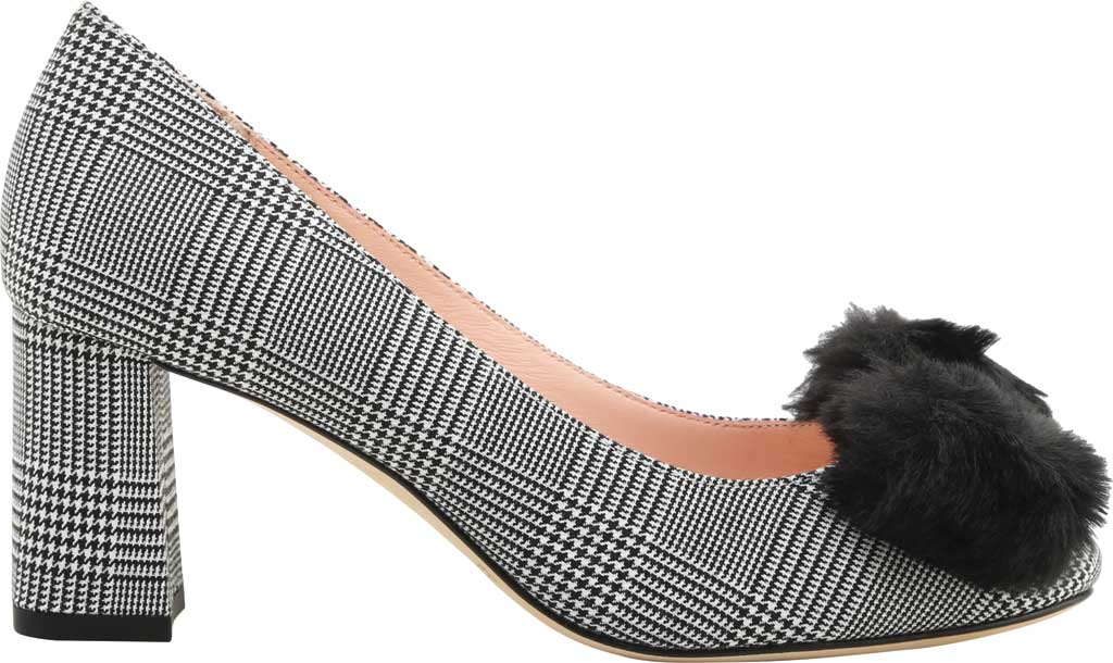 Women's Kate Spade Carine in Prince Of Wales Fabric, Black/White Textile, large, image 2