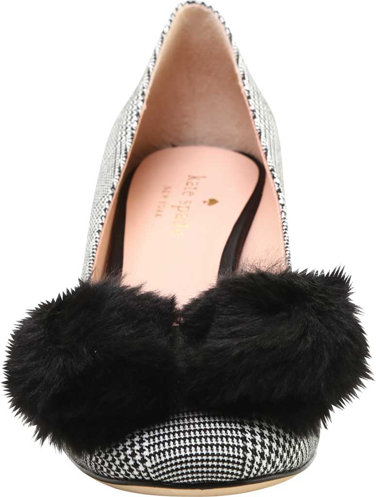 Women's Kate Spade Carine in Prince Of Wales Fabric, Black/White Textile, large, image 3