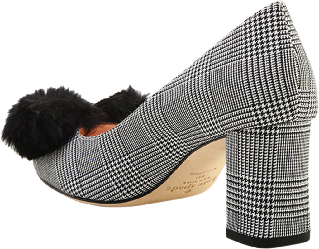 Women's Kate Spade Carine in Prince Of Wales Fabric, Black/White Textile, large, image 4