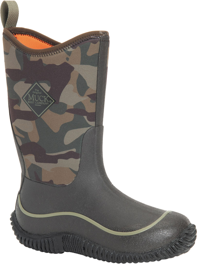 Children's Muck Boots Hale Camouflage Waterproof Boot, Camo, large, image 1