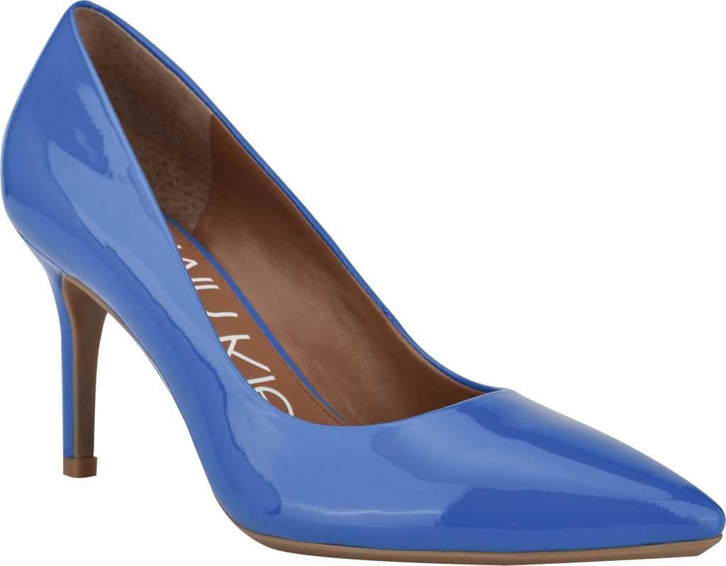 Women's Calvin Klein Gayle Stiletto Pump, Light Blue Patent Leather, large, image 1