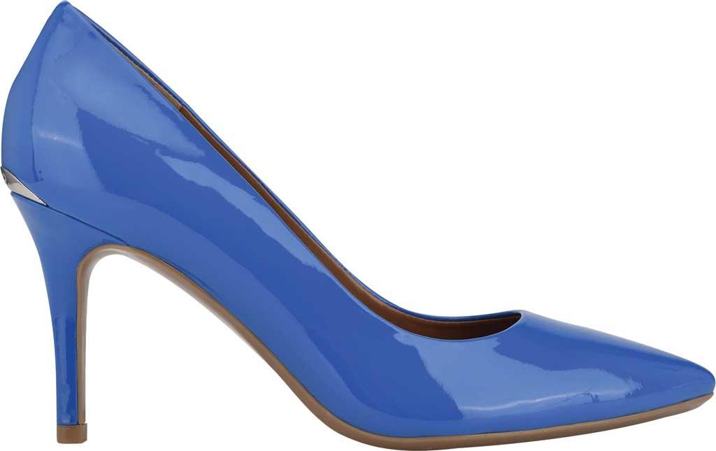 Women's Calvin Klein Gayle Stiletto Pump, Light Blue Patent Leather, large, image 2