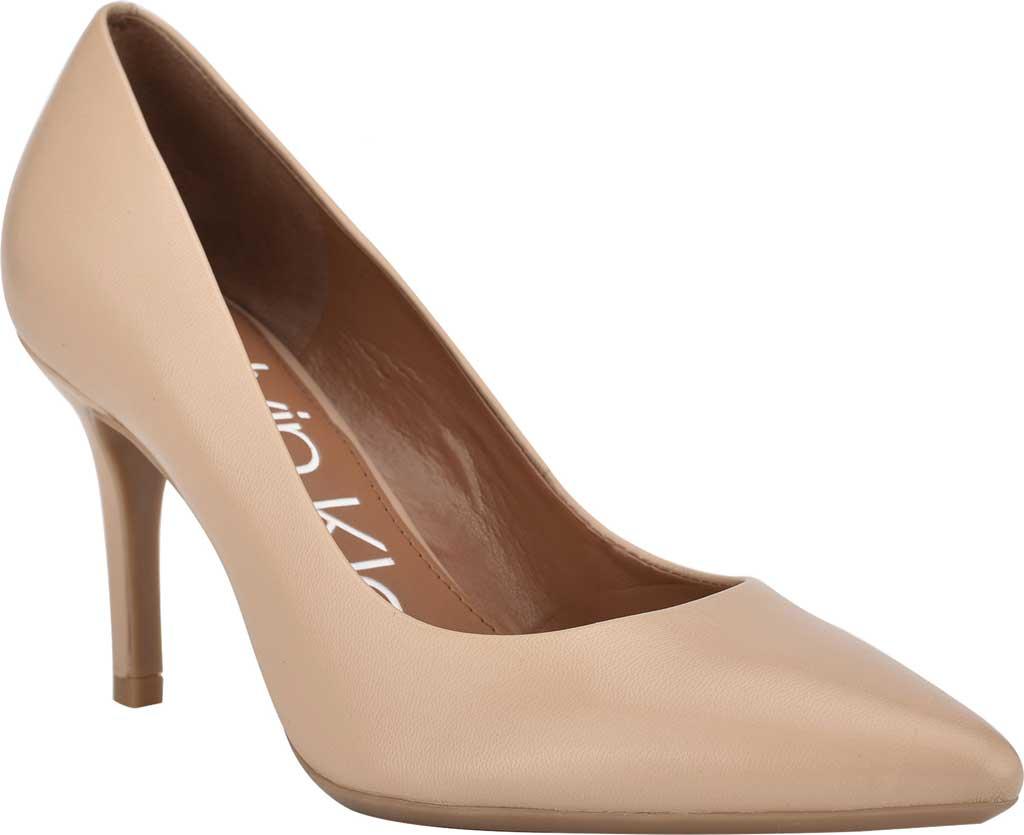 Women's Calvin Klein Gayle Stiletto Pump, Light Natural Leather, large, image 1