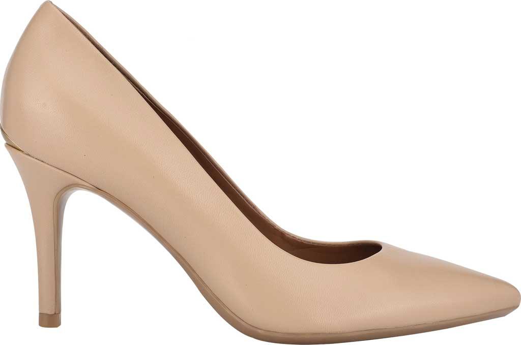 Women's Calvin Klein Gayle Stiletto Pump, Light Natural Leather, large, image 2