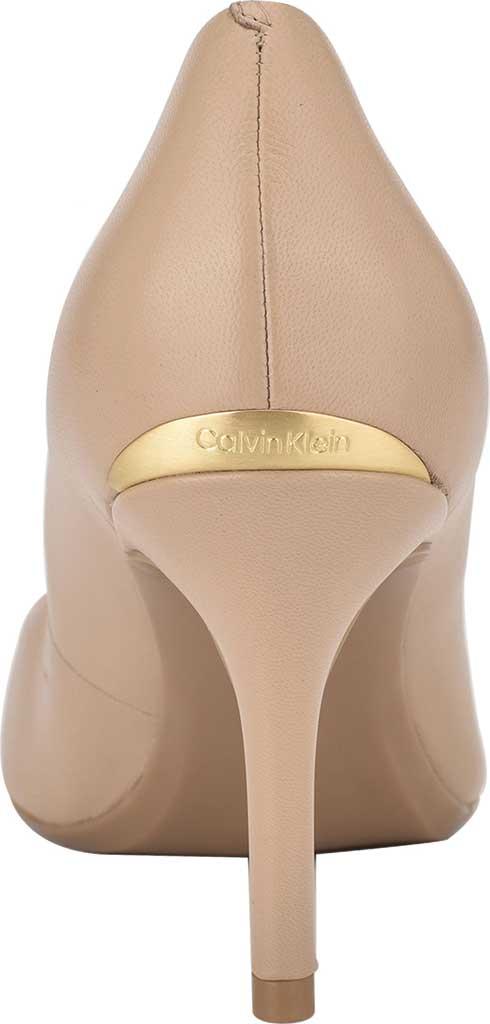 Women's Calvin Klein Gayle Stiletto Pump, Light Natural Leather, large, image 4