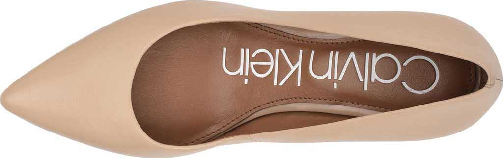 Women's Calvin Klein Gayle Stiletto Pump, Light Natural Leather, large, image 5