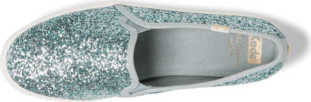 Women's keds Triple Decker Glitter Slip On Flatform, Dusty Blue Glitter, large, image 3