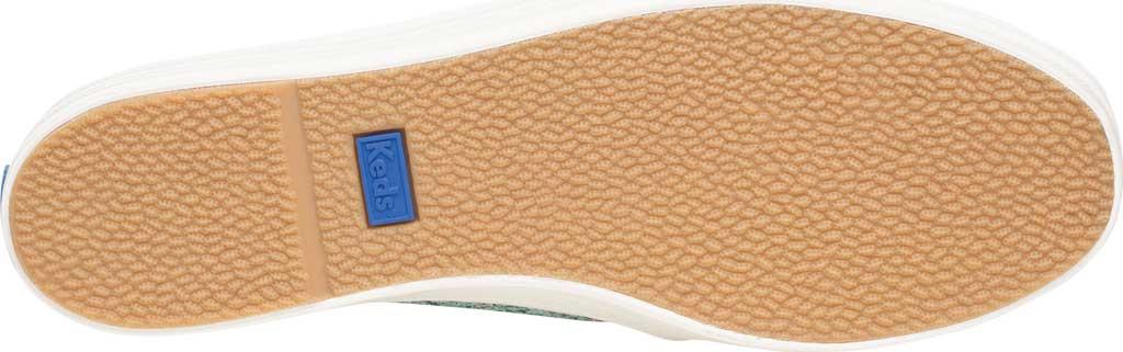 Women's keds Triple Decker Glitter Slip On Flatform, Dusty Blue Glitter, large, image 4