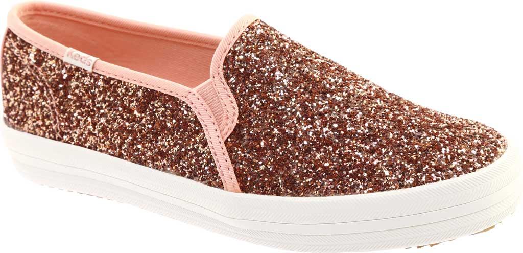 Women's keds Double Decker Glitter Sneaker, Rose Pink Glitter, large, image 1