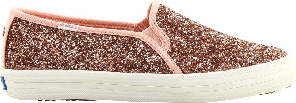 Women's keds Double Decker Glitter Sneaker, Rose Pink Glitter, large, image 2