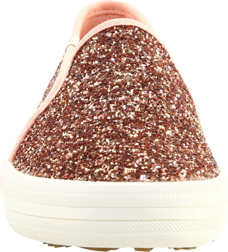 Women's keds Double Decker Glitter Sneaker, Rose Pink Glitter, large, image 3