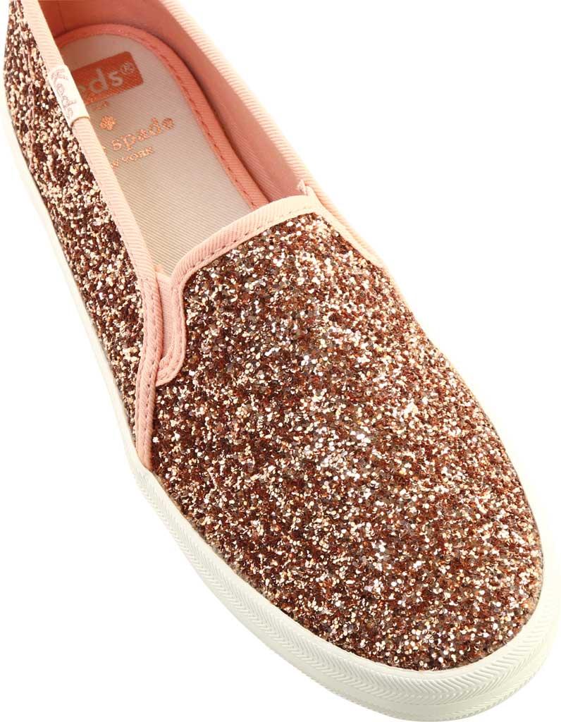 Women's keds Double Decker Glitter Sneaker, Rose Pink Glitter, large, image 5