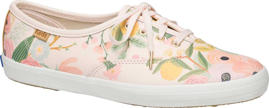 Women's Keds Champion Saffiano Sneaker, Pink Leather, large, image 1