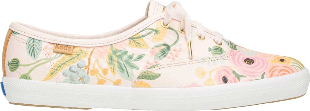 Women's Keds Champion Saffiano Sneaker, Pink Leather, large, image 2