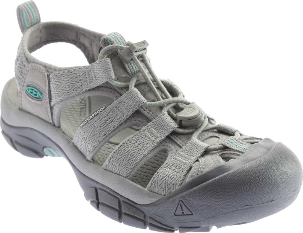 Women's Keen Newport H2 Sandal, Grey/Ocean Wave, large, image 1