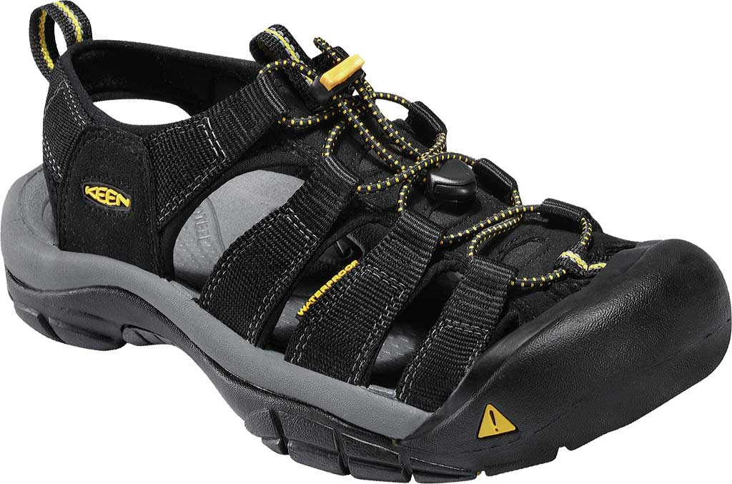 Men's KEEN Newport H2 Sandal, Black, large, image 1
