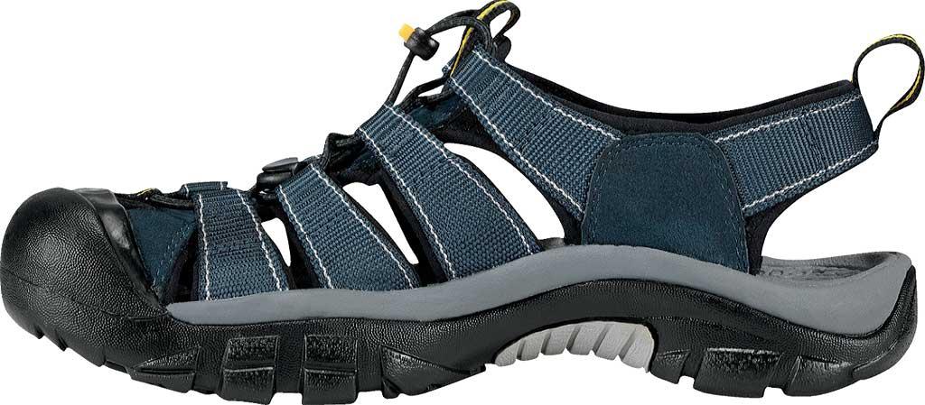 Men's Keen Newport H2 Sandal, Navy/Medium Gray, large, image 3