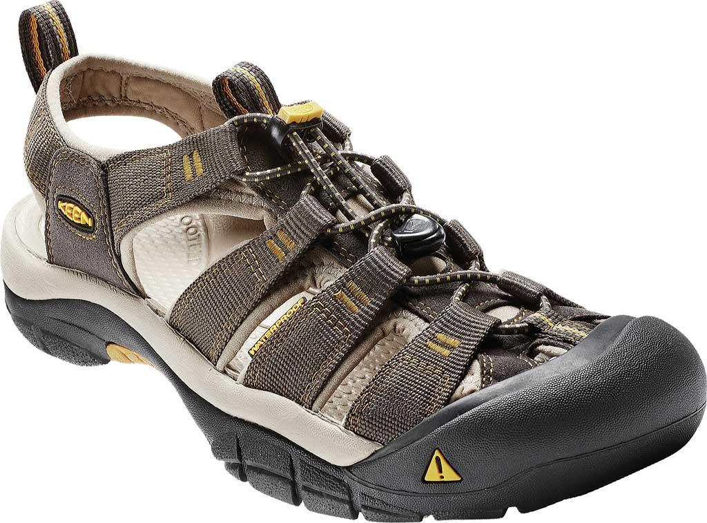 Men's Keen Newport H2 Sandal, Raven/Aluminum, large, image 1