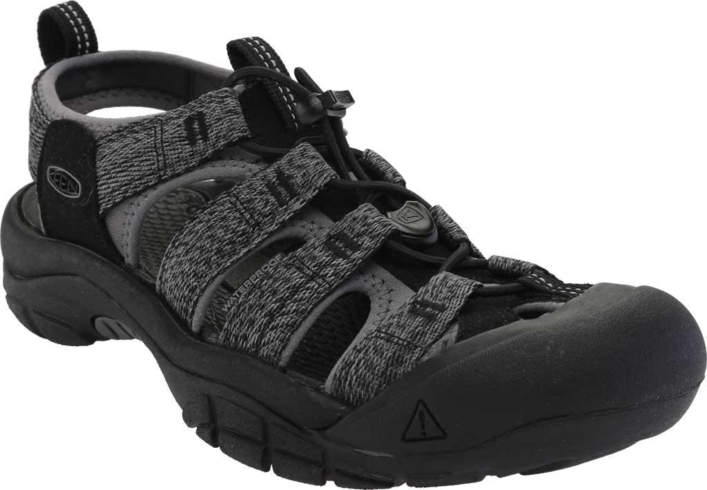Men's Keen Newport H2 Sandal, Black/Steel Grey, large, image 1