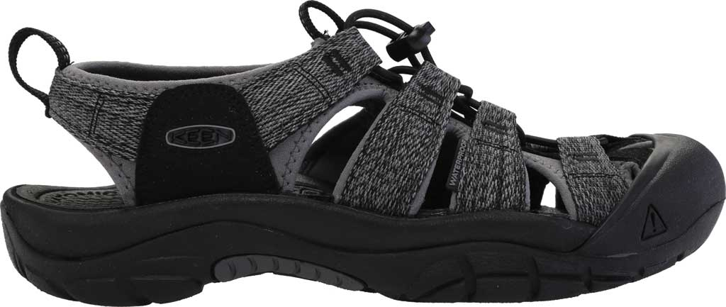Men's Keen Newport H2 Sandal, Black/Steel Grey, large, image 2