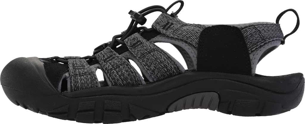 Men's Keen Newport H2 Sandal, Black/Steel Grey, large, image 3