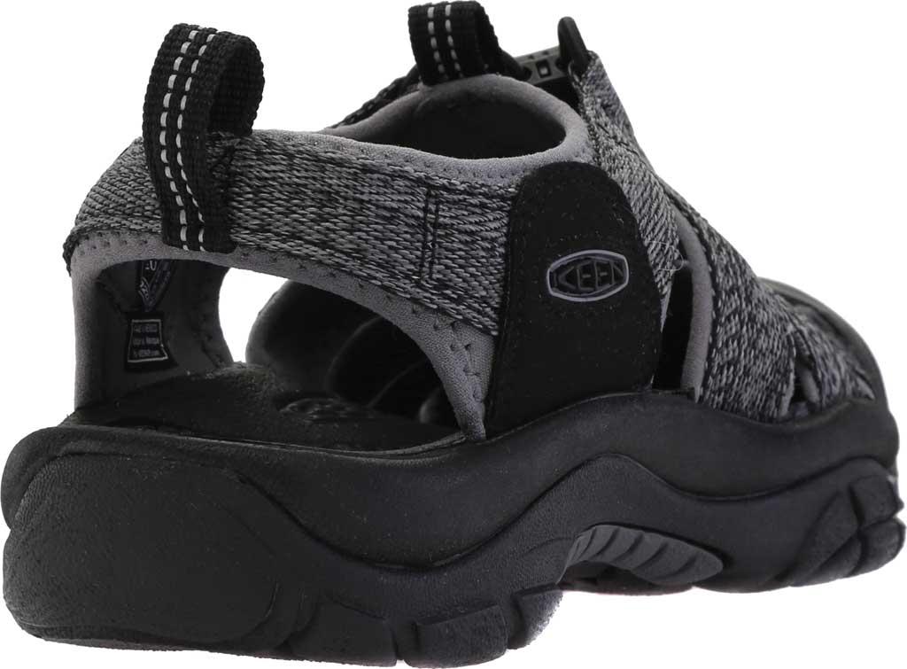Men's Keen Newport H2 Sandal, Black/Steel Grey, large, image 4