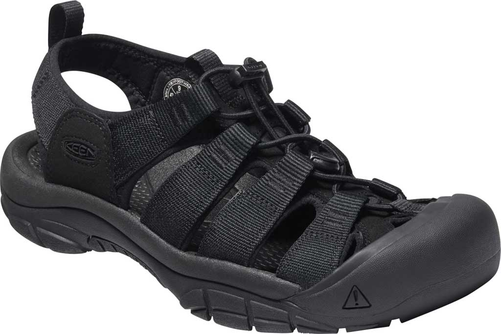 Men's KEEN Newport H2 Sandal, Triple Black, large, image 1