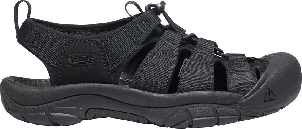 Men's KEEN Newport H2 Sandal, Triple Black, large, image 2