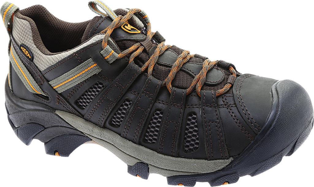 Men's KEEN Voyageur Hiking Shoe, Black Olive/Inca Gold, large, image 1