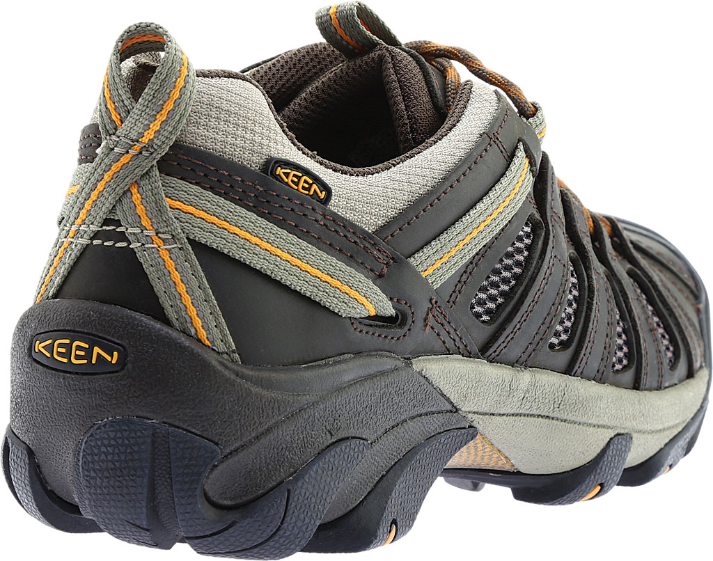 Men's KEEN Voyageur Hiking Shoe, Black Olive/Inca Gold, large, image 4