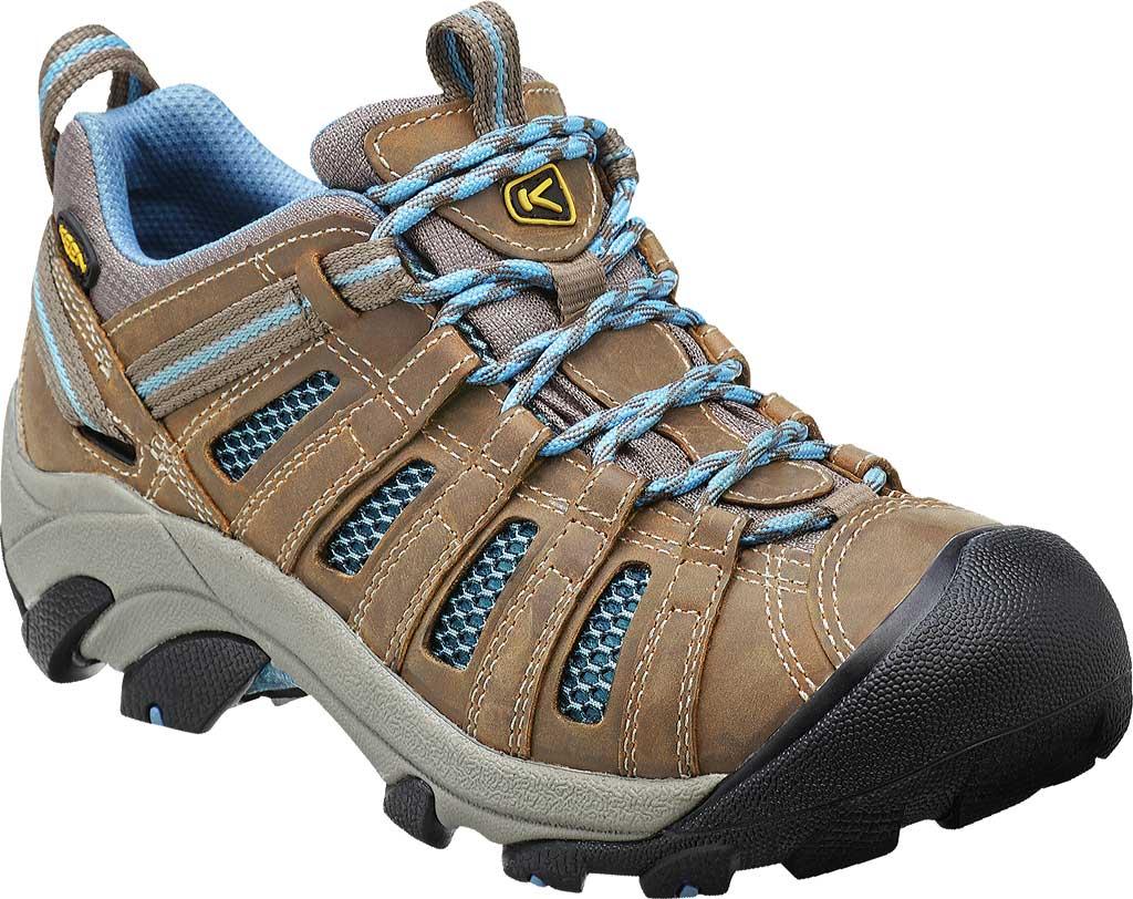 Women's Keen Voyageur Hiking Shoe, Brindle/Alaskan Blue, large, image 1