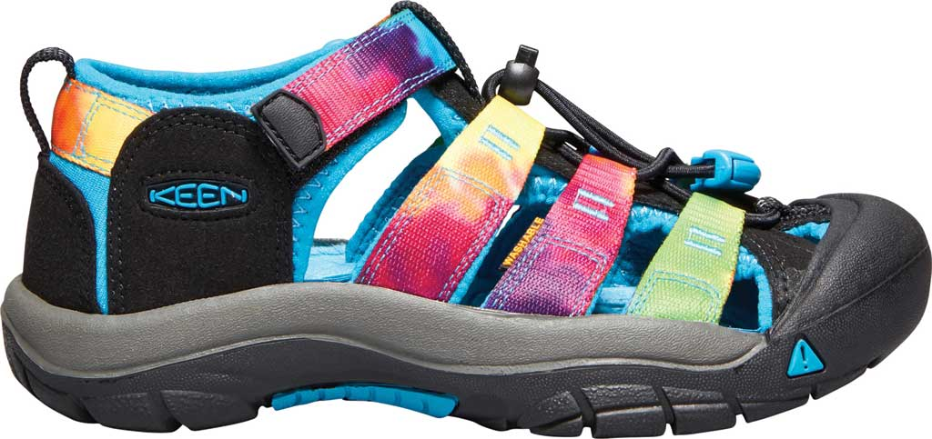 Children's KEEN Newport H2 Sandal, Rainbow Tie Dye, large, image 2