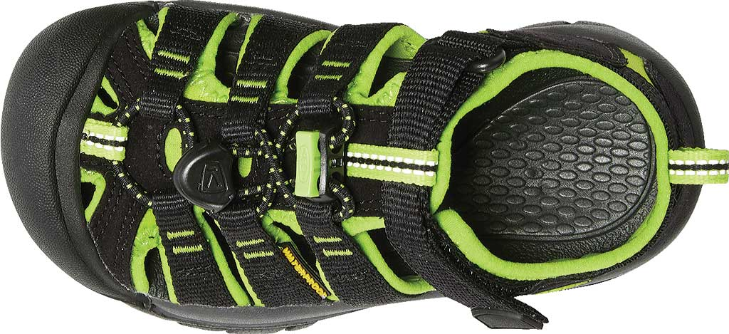 Children's KEEN Newport H2 Sandal, Black/Lime Green, large, image 5