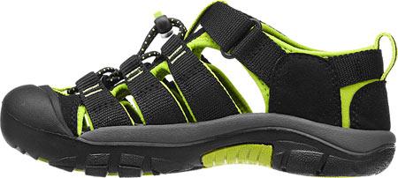 Children's KEEN Newport H2 Sandal, Black/Lime Green, large, image 3