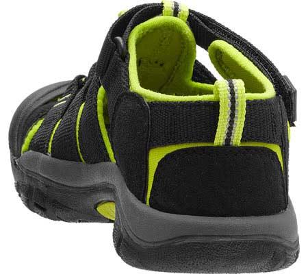 Children's KEEN Newport H2 Sandal, Black/Lime Green, large, image 4