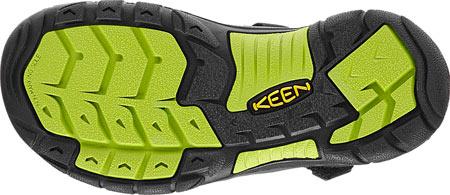 Children's KEEN Newport H2 Sandal, Black/Lime Green, large, image 6