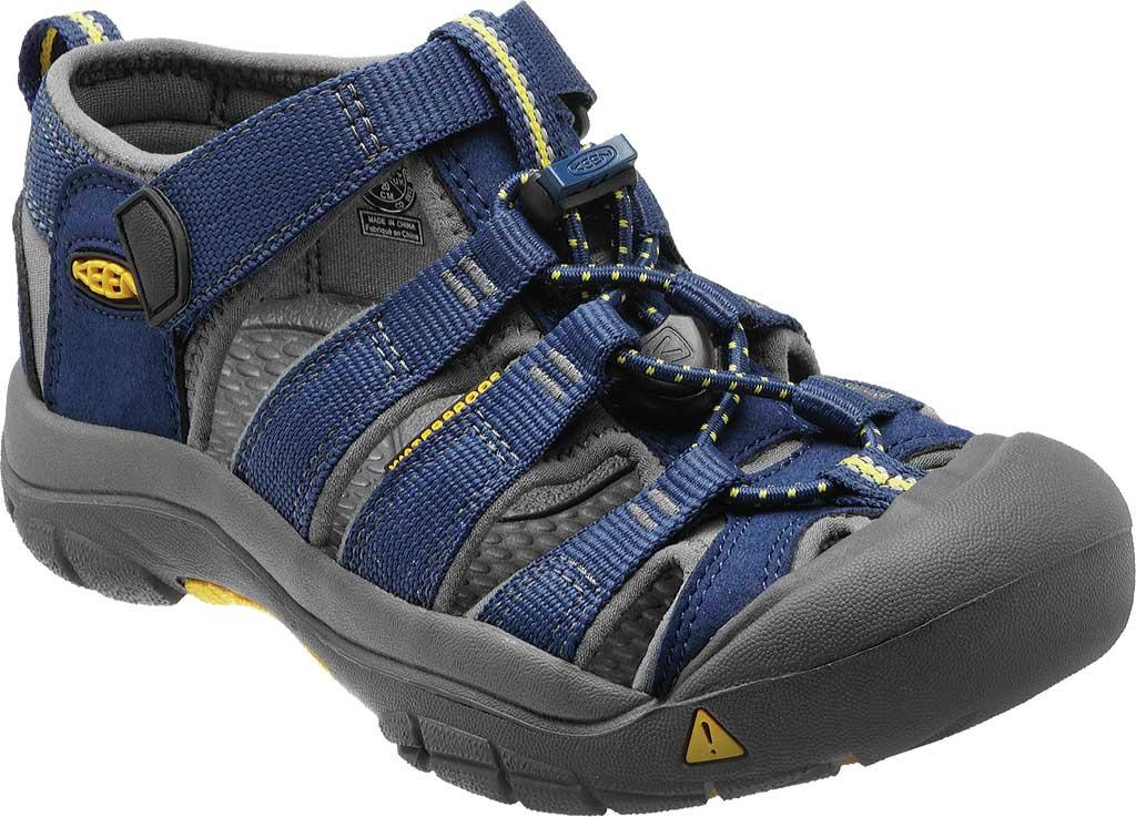 Children's KEEN Newport H2 Sandal, Blue Depths/Gargoyle, large, image 1