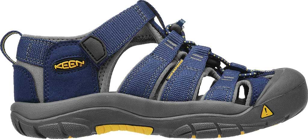 Children's KEEN Newport H2 Sandal, Blue Depths/Gargoyle, large, image 2