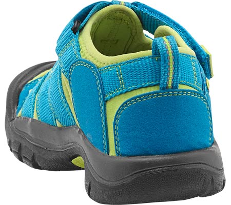 Children's Keen Newport H2 Sandal, Hawaiian Blue/Green Glow, large, image 4