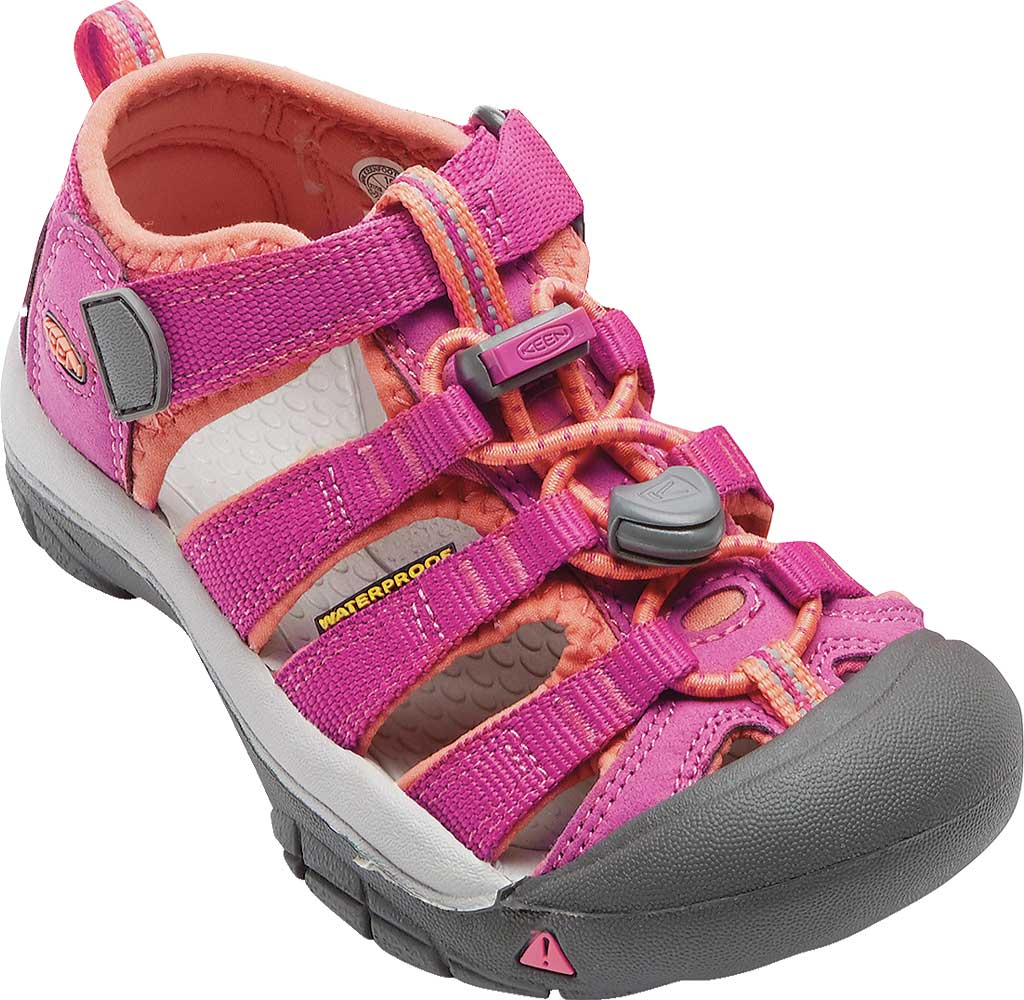 Children's Keen Newport H2 Sandal, Very Berry/Fusion Coral, large, image 1