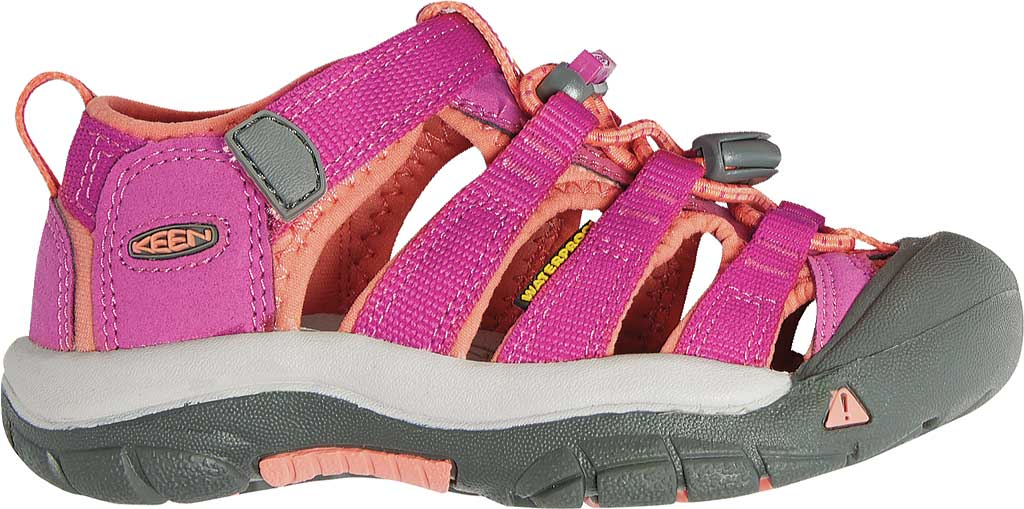 Children's Keen Newport H2 Sandal, Very Berry/Fusion Coral, large, image 2