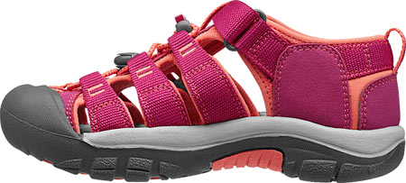 Children's Keen Newport H2 Sandal, Very Berry/Fusion Coral, large, image 3